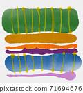 抽象的水彩背景和幾何插畫 71694676