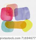 抽象的水彩背景和幾何插畫 71694677