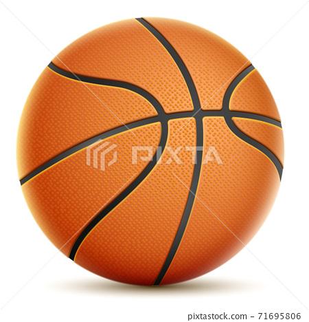 Isolated On White Orange Basketball. 71695806