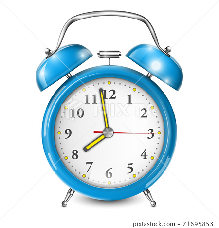 Blue Alarm Clock Isolated On White. 71695853