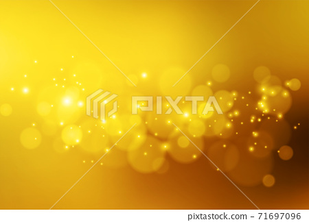 Soft golden lights. Abstract vector bokeh background. 71697096