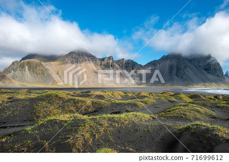 Vestrahorn mountain in Stokksnes, Iceland 71699612