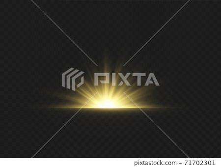 Sun ray light. 71702301