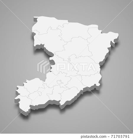 3d isometric map of Rivne oblast is a region of Ukraine 71703791