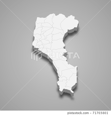 3d isometric map of Pingtung County is a region of Taiwan 71703801