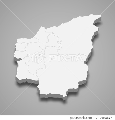 3d isometric map of Nantou County is a region of Taiwan 71703837