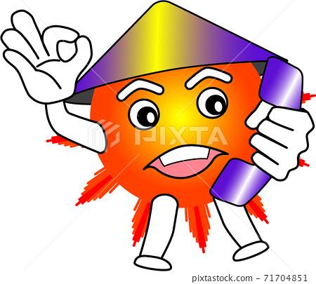 sun, solar, cartoon character 71704851