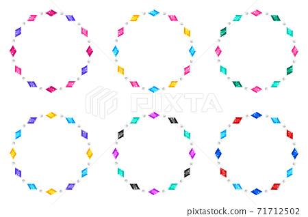 寶石/圓形/鑽石/ D 71712502