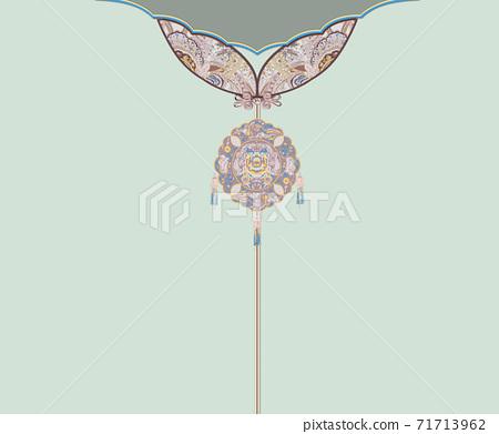 色彩豐富的花卉素材組合和設計元素 71713962