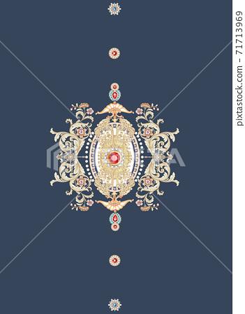色彩豐富的花卉素材組合和設計元素 71713969