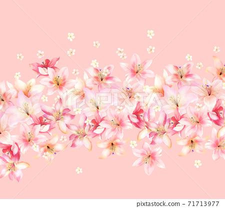 色彩豐富的花卉素材組合和設計元素 71713977