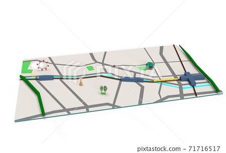 千代田區和文京區附近的簡單透視圖 71716517