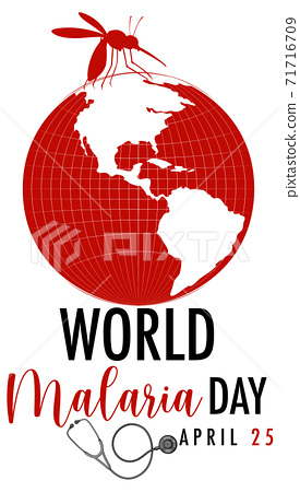 World Malaria Day logo or banner with mosquito sign 71716709