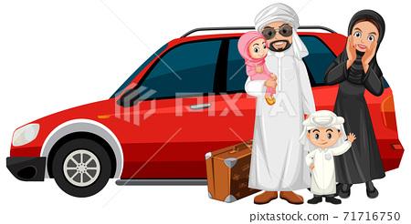 Arabian family on holiday 71716750