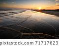 Kujukuri beach at dusk 71717623