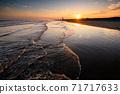 Kujukuri beach at dusk 71717633