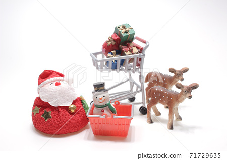 Christmas Decorations Isolated On White Background Shopping at christmas 71729635
