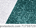 Silver and green tidewater defocused glitter backround. 71730720