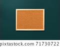 Empty coark board on green tidewater background 71730722