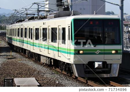 [Sendai Subway] 1000N series on the Namboku Line entering Yaotome Station 71734896
