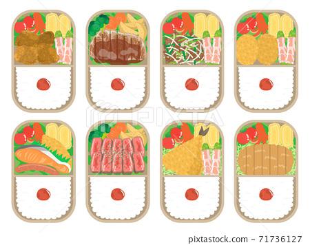 日本午餐的插圖集 71736127