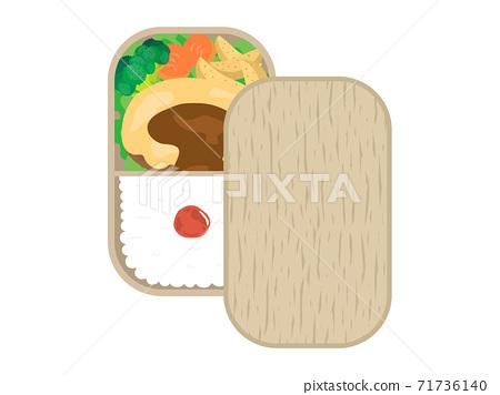 奶酪漢堡午餐的插圖 71736140