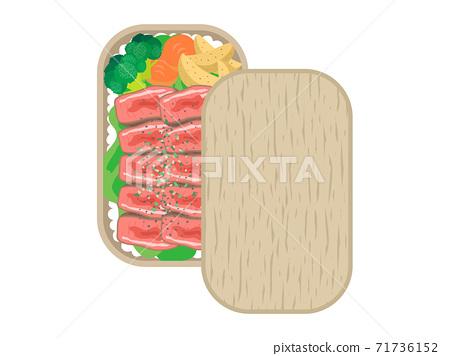 牛排午餐的插圖 71736152