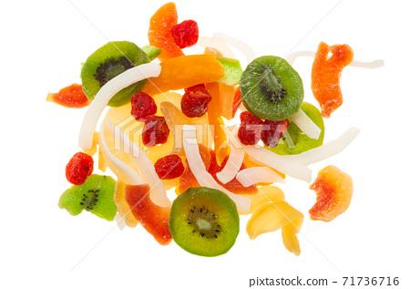 dry fruit mix isolated on white background 71736716
