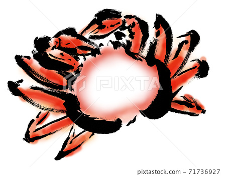 手繪蟹插圖與副本空間 71736927