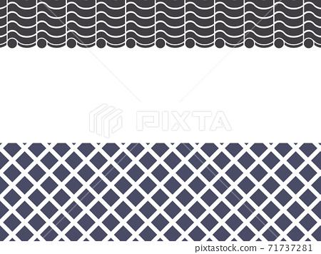 納馬科牆和瓦屋頂牆的框架材料_日式插圖_剪影 71737281