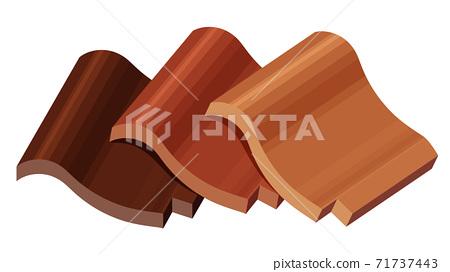 Illustration of brown tile 71737443