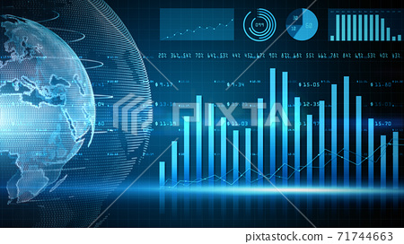 Digital financial chart bars, Financial investment trends around the world, Big data and stock market, Business and finance background 71744663
