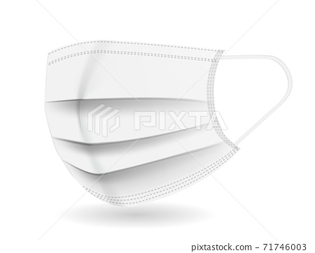 White Medical mask. Protection against coronavirus, COVID-19. Vector Illustration 71746003