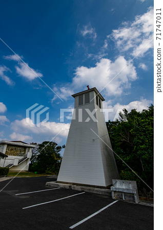 맑은 오도 열도 후쿠에 섬의 가톨릭 三井楽 교회 71747011
