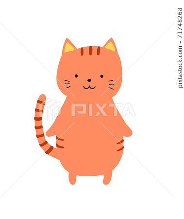 Cat cut illustration alone 71748268