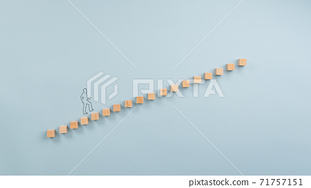 Ladder of success conceptual image 71757151