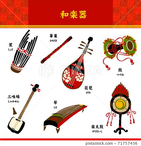 日本樂器,鼓,古箏,薩米森,琵琶,音樂鼓,篳 71757436