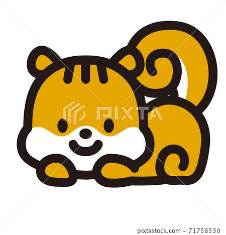 可愛的松鼠角色 71758530