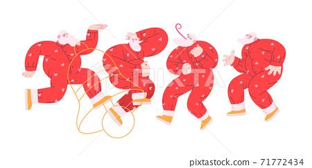 Dancing Santa - Christmas and New Year party 71772434