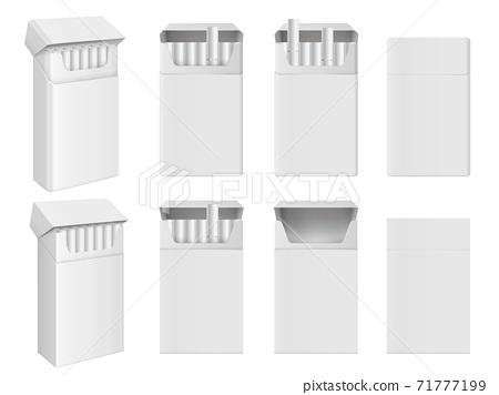 Realistic blank tobacco cigarette pack mockup icon 71777199