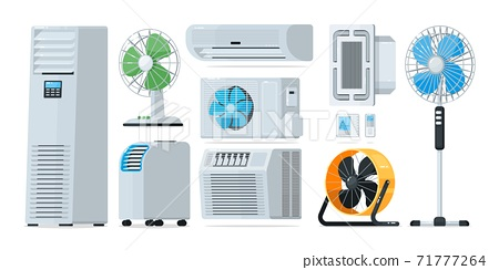 Air conditioner heating and cooling household appliance set 71777264