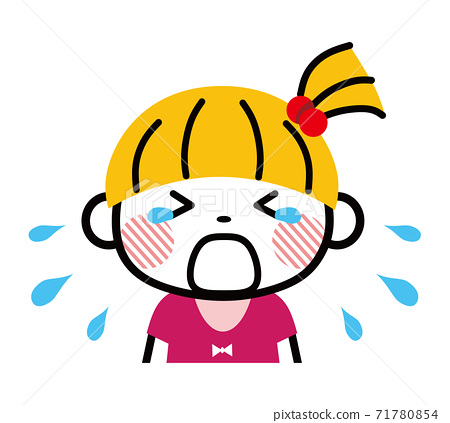 Girl crying tantrum 71780854