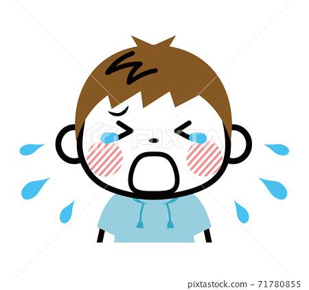 Boy crying tantrum 71780855