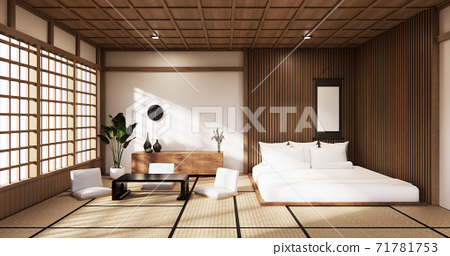 The Bedroom Japanese style.3D rendering 71781753
