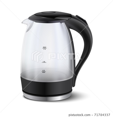 3d realistic vector electric teapot for coffee or morning tea beverage. 71784337