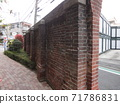 Former Senju Seijo Brick Fence 01 A brick wall built in England from the end of the Meiji era to the beginning of the Taisho era that remains in Minamisenju. 71786831