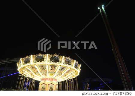 Amusement park at night 71787850