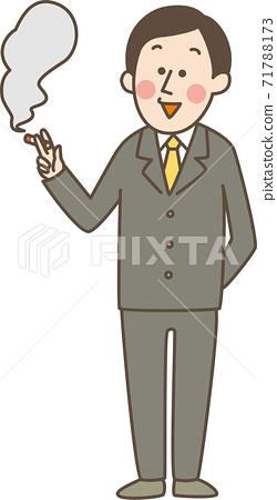 男人吸煙 71788173