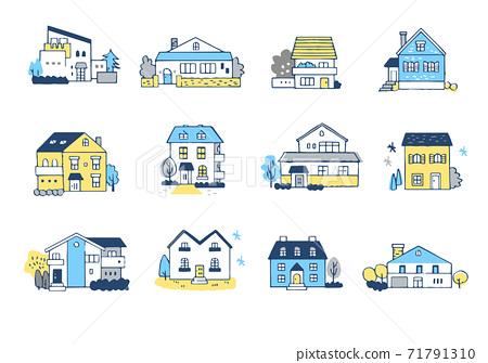 12套各種類型的房屋 71791310