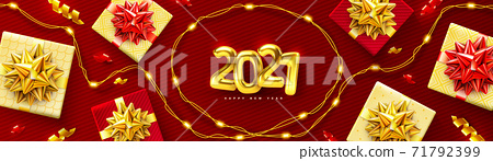 2021 background for Christmas and Happy New Year poster 71792399